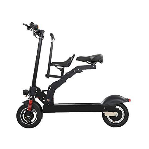 Y&WY Scooter Eléctrico,Adulto Mini Plegable Coche Eléctrico Bicicleta 3 Modos De Conducción con LED Luces Portátil City Speed Bike Patinete Eléctrico
