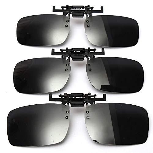 Ansteckbare Sonnenbrille mit polarisierten Linsen von Cosprof, aufklappbare Clip auf Sonnenbrille, blendfreie Brille zum Fahren, Angeln, Freiluftaktivitäten, für Damen und Herren, Large