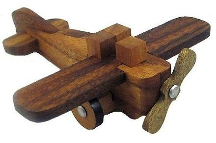Wooden Airplane - 3D Wood Model Assembly Puzzle Brain Teaser Toy
