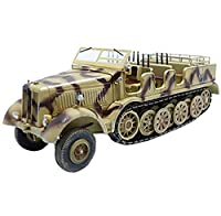 1/72戦車モデルドイツ12トンハーフトラックカー、軍用玩具およびギフト、5.1インチ&回; 2インチ