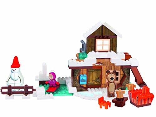 BIG- Masha Costruzioni Casa Inverno di Orso, 122 Pezzi, 800057100