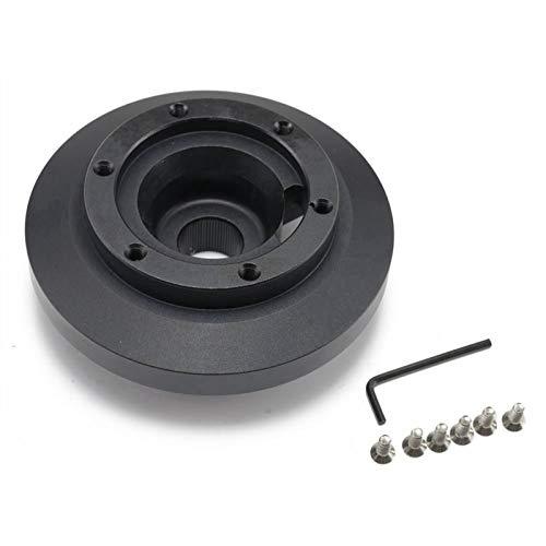 MAIOPA Lenkrad Kurze Hub-Adapter-Boss-Kit Aluminium schwarz für BMW E46 M3 Perfektes Spielwerkzeug (Color : Black)