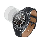 Better Future Glass Screen Protector for Samsung Galaxy Watch 3 45mm,3 Pack,Tempered Glass Film,Scratch Resistant