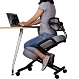 Ergonomic Kneeling Chair with Back Support, Adjustable Stool for Home and Office