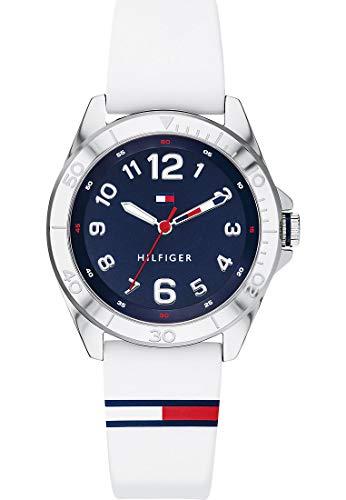 Tommy Hilfiger Reloj de pulsera analógico de cuarzo para niños, talla única, color blanco, silicona, 32005950