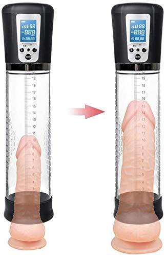 Männer T-Shirt elektrische Massagepumpe für männliche Geräte Männer Vakuumvergrößerung Verzögerung Pump Trainer Männer Muskelverbesserungsgerät männliche Tasse Geschenk