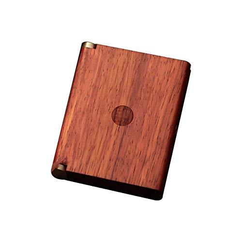 WANGXNCase Holz Herren Zigarettenetui Vintage tragbare hochwertige Zigarettenschachteln für gewöhnliche Zigaretten Werbegeschenke