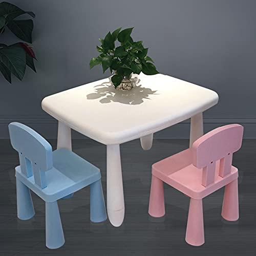 Juego de mesa y silla para niños, mesa y silla de estudio multifuncional para niños, mesa de juego cómoda y ecológica con 2 sillas, adecuada para jardín de infantes, estable y duradera/I / 72x