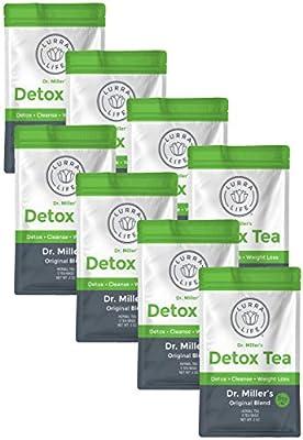 Lurra Life Dr. Miller's Detox Tea   Original Blend   for Detox, Natural Cleansing, and Weight Loss (8 Packs - 16 Tea Bags) by Lurra Life