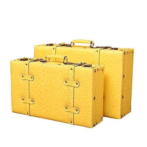 LINPAN Retro Maleta de Viaje Joyería de la baratija de la Caja de almacenaje de Madera con Tapa Decorativa Cajas Nido Caja de Almacenamiento Caja de Almacenamiento Antiguo de la Vendimia