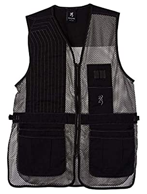 Browning, Trapper Creek Mesh Shooting Vest, Black/Gray, Large, Right Hand
