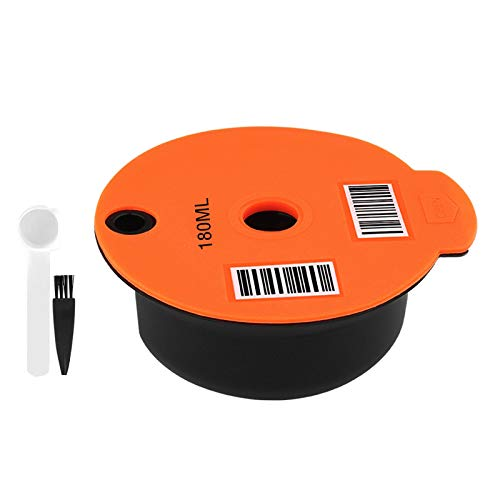 Baoblaze Cápsula de café de plástico recargable para cafetera Bosch tassim, malla de acero inoxidable, tapa de silicona - 180ml