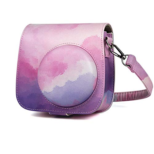 Kamera-Taschen Hülle für Fujifilm Instax Mini 9 8 8+ Instant Film Camera Sofortbildkamera, PU-Leder Kameratasche Compact Schutztasche Kompaktkamera-Taschen mit Schultergurt & Tasche