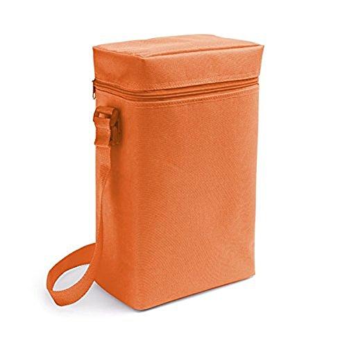 Vertieb durch presents & more Kühltasche - Orange - 2 x 1,5 L Flaschen