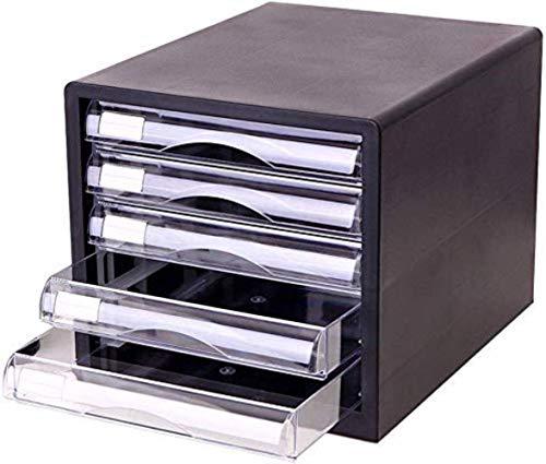 Ablageschränke Aktenschränke Vertikal 5 Drawer Desktop Datenspeicherschrank Büroschrank Black 27 * 34,4 * 29,5 cm Home Office Möbel Bürobedarf