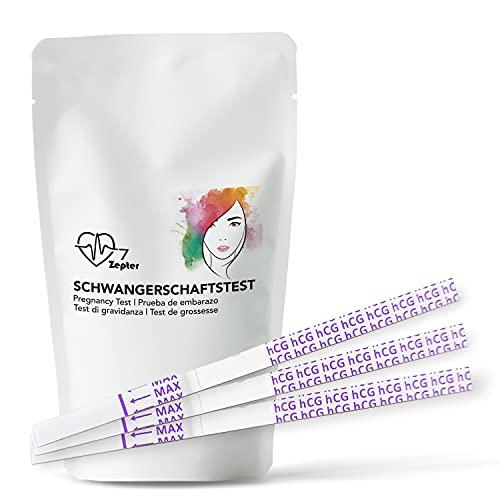 20 unidades INVT 7 Zepter pruebas de embarazo prueba de embarazo nueva edición para prueba de fila de HCG 10 mIU/ml