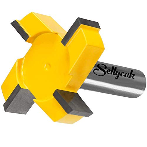CNC Spoilboard Surfacing Router Bit, 1/2 Inch Shank 2 Inch Cutting Diameter, Slab Flattening Router Surfacing Bit from SellyOak