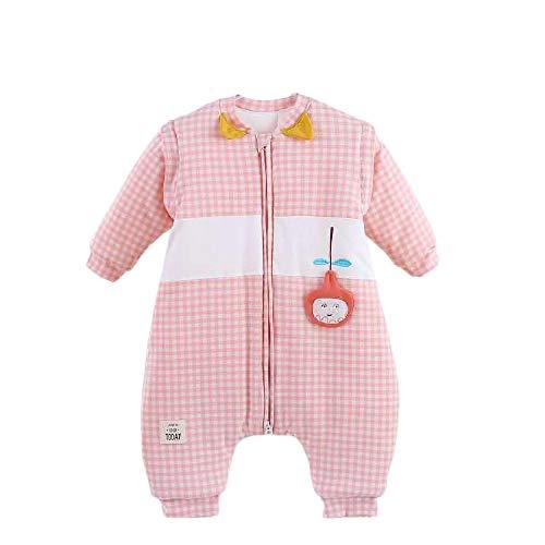 Saco de Dormir para Bebé,La colcha del bebé se engrosa en otoño e invierno, y el saco de dormir para recién nacidos es un saco de dormir con patas separadas.-Rosado_100cm