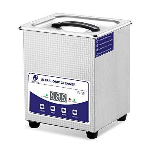 Limpiador de Ultrasonido 2L SKYMEN Limpiador Ultrasonidos con Calefacción y DEGAS, Limpieza Ultrasonido Joyería Anteojos Dentales Monedas Relojes Accesorios