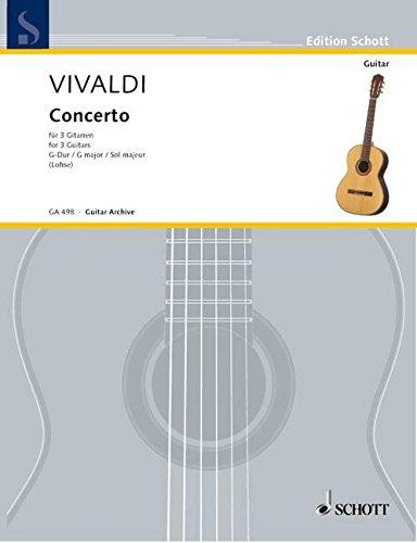 Concerto G-Dur: nach dem Concerto für 2 Mandolinen (RV 531 / PV 133). RV 532. 3 Gitarren. Partitur und Stimmen. (Edition Schott)