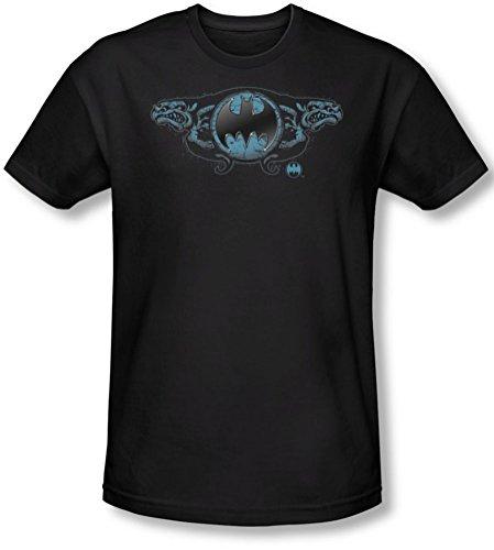 Batman - Männer Zwei Wasserspeier Logo-T-Shirt in schwarz, X-Large, Black