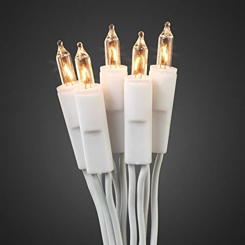 Hellum 833584 Lichterkette 35 Pisellokerzen klar / 8,1 m/innen/Zuleitung 2x1,5 m weiß
