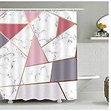 Marmor-Muster, wasserdichter Duschvorhang, geometrischer Druck, Vorhang für Badezimmer, Duschvorhänge, schimmelresistent, 25 cm, 180 x 200 cm