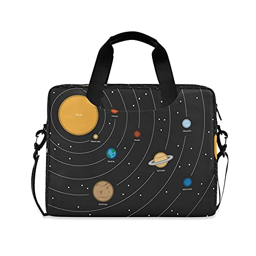 Planet Boys 14 pulgadas portátil Bolsas sistema solar GalaxyKids 10 Tablet caso de la manga de los bolsos para la escuela secundaria hombres 15.6 computadoras bolsa maletín