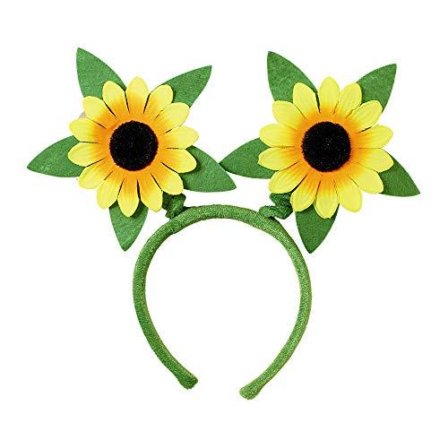 Widmann 9436H - Haarreif Sonnenblumen, Accessoire, Gärnter, Flower Power, Mottoparty, Karneval,Mehrfarbig,Einheitsgröße