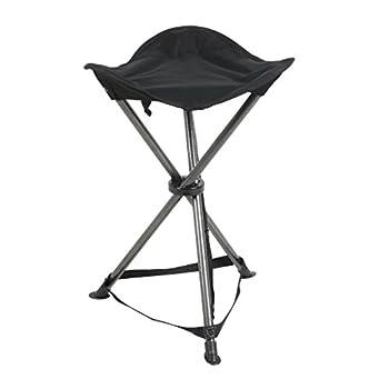 PORTAL Folding Tripod Camping Stool Black