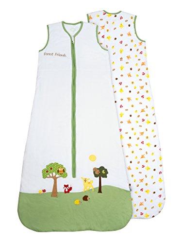 Schlummersack PREMIUM Ganzjahres Babyschlafsack Waldtiere 2.5 Tog 12-36 Monate/110 cm mitwachsend