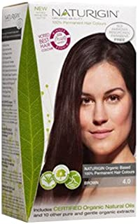 Naturigin Organic Beauty 100% Natural and Organic Permanent Hair Colour, Brown, 115ml