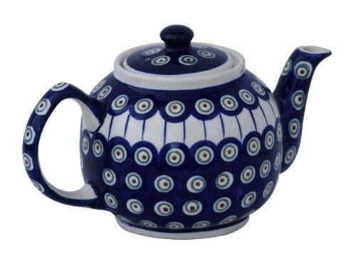 Original Bunzlauer Keramik Teekanne 1,00 Liter im Dekor 8