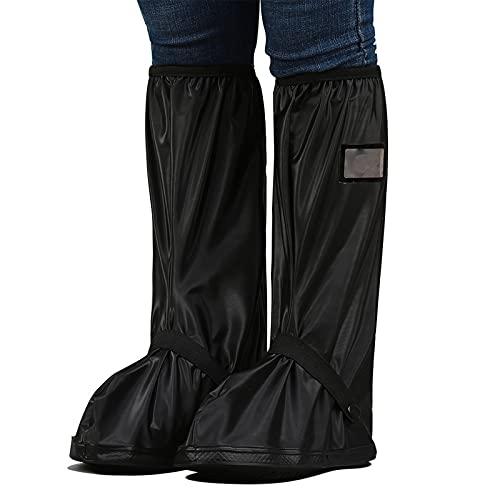 Regenüberschuhe Wasserdicht Schuhe Überschuhe wasserdichte und rutschfeste Schuhüberzieher Unisex Regenüberschuhe für Regnerischen Schneebedeckten Tag Radfährt Motorrad...