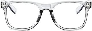 Unisex Blue Light Blocking Glasses Square/Half Frame Eyeglasses Frame Anti Blue Ray for Computer Game Eyewear