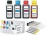 Cartucce ricaricabili HP 932 + 933 con chip auto reset + 400 ml inchiostro di marca per HP OfficeJet 6100 e-Printer, 6600 e-All-in-One, 6700 Premium, 7110, 7510, 7610, 7612 formato grande