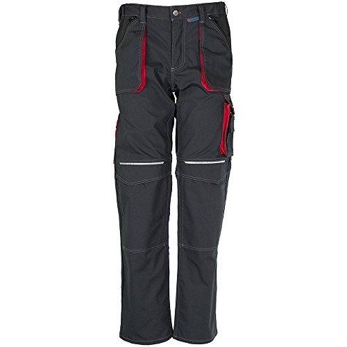 Planam - Basalto Vestiti Pantaloni Da Lavoro Blu/Rosso