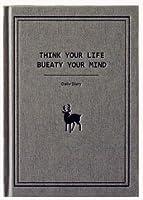 【deli】 シンプル ナチュラル テイスト ダイアリー おしゃれな ノート 日記帳 B5サイズ (グレー×シカ)