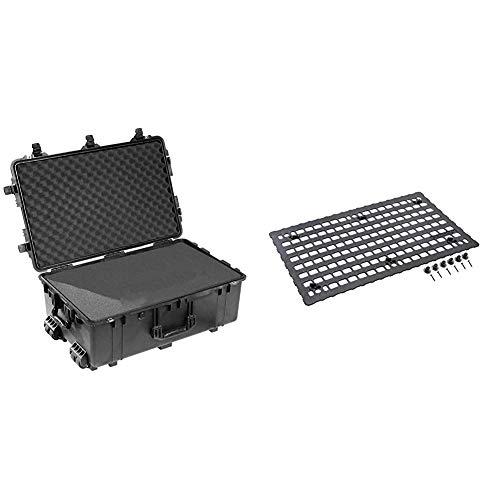 Pelican 1650 Case Bundle - Case with Foam Plus Molle Panel for Lid