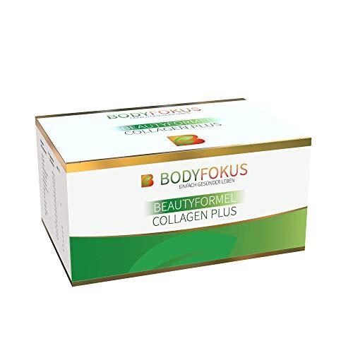 BodyFokus BeautyFormel Collagen Plus - Kollagen Pulver aus Weidehaltung + Hyaluronsäure