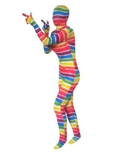 EyeCandy UK Regenbogen-Superskin Kostüm–für Erwachsene, Unisex Damen und Herren zweite Haut | Zentai Batman-Kleidung, Outfit mit Lycra mit, S