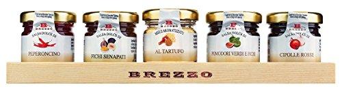 Brezzo - Confezione 5 confetture per formaggi 200 gr