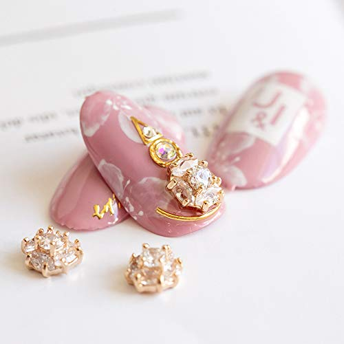 2 Pieces Colorful Crystals Nail Art Rhinestones Charms Gems Stones Decoration Craft Jewelry DIY (Japanese Heart#04)