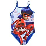 Miraculous Ladybug Maillot de Bain Fille 1 pièce - Bleu - 8 Ans