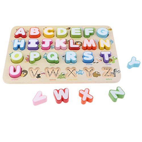 Backbayia Puzzle de juguete de alfabeto...