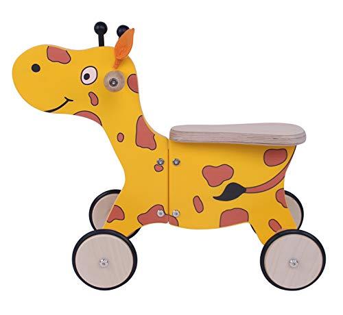 KidsBo Rutscher aus Holz Modell Rutschtier Giraffe Happy