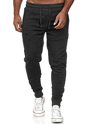 Red Bridge Herren Jogginghose Jogger Hose Freizeithose Sweat-Pants R-B-J M4236-Anthrazit-M