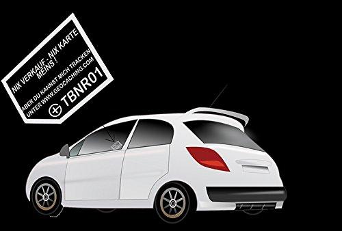 CACHEEQUIP Geocaching Autoaufkleber trackbar Travelbug Trackable Visitenkarten Aufkleber