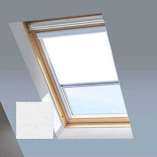 Persianas enrollables Blackout Skylight para ventanas de tejado o techo Dakstra, color blanco brillante, C2A