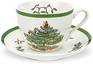 Spode Christmas Tree Teacup and Saucer,Set of 4 by Spode